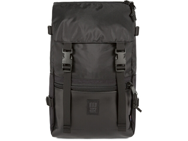 Topo Designs Rover Leather Pack, ballistic black/black leather
